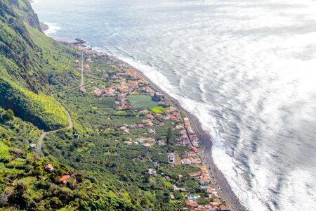 Mooie zeekust in het eiland Madeira, Portugal. Stockfoto