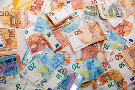 Money, euros, bills banknotes