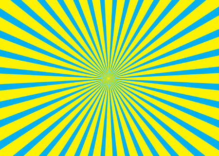 Sunny background. Rising sun pattern. Vector stripe abstract illustration. Sunburst.