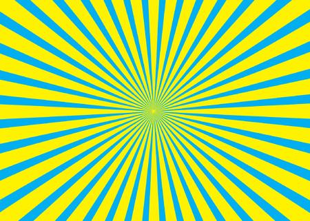 Sunny background. Rising sun pattern. Vector stripe abstract illustration. Sunburst.