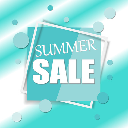 Sale square banner. Black Friday design template. Summer sale sticker. Vector illustration. Illusztráció