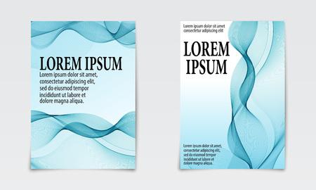 Cover set abstract design. Liquid wave background. Flow shapes vector. Vektorové ilustrace