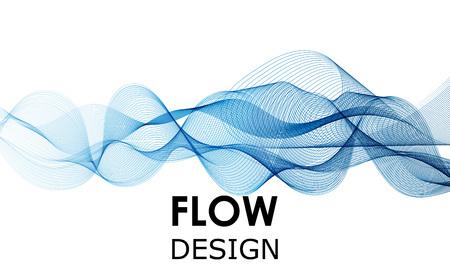 Flow-Formen-Design. Flüssiger Wellenhintergrund. Abstrakte 3D-Flow-Form. Vektorgrafik