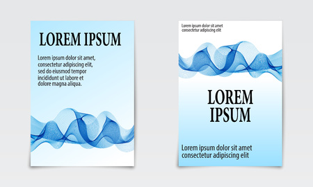 Cover set abstract design. Liquid wave background. Flow shapes vector.