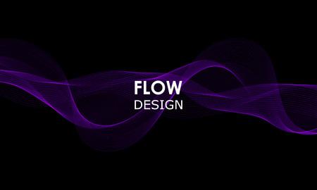 Flow shapes design. Liquid wave background. Abstract 3d flow shape. Vektorgrafik