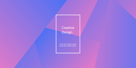 Geometric background. Minimal abstract cover design. Creative colorful wallpaper. Trendy gradient poster. Vector illustration.