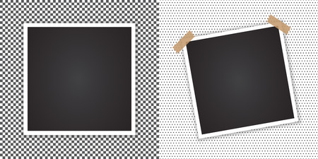 Photo frame with shadow on a transparent background.