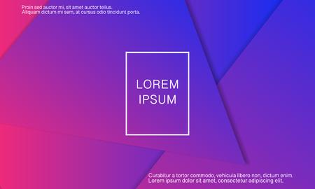 Fondo geométrico. Diseño de portada abstracta mínima. Papel tapiz de colores creativos. Cartel degradado de moda. Ilustración vectorial.