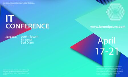 추상적인 디자인 벡터입니다. 회의 초대장 디자인 템플릿입니다. 추상적인 배경입니다. 크리에이 티브 다채로운 벽지. 트렌디한 그라데이션 포스터입니다.