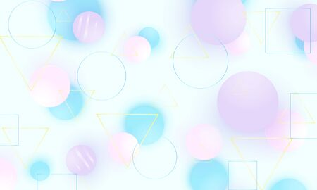 Baby background. Soft blue pattern. Creative decoration. Pink, blue, violet balls. Fun concept. Vector illustration. Cute baby background.