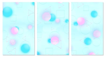 Baby background. Soft pattern. Creative decoration. Pink, blue, white, violet balls. Fun concept. Vector illustration. Cute baby background.