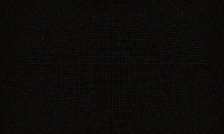 Golden halftone pattern. Random dots. Gold circles on black background. Vector illustration. Colorful polka dots pattern.