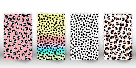 Leopard print design. Spotted fur texture. Panther skin. Retro fabric pattern. Animal print leopard. Vector illustration.
