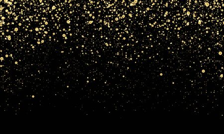 Golden confetti. Gold abstract particles. Sparkle glitter background. Vector illustration.