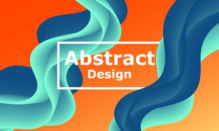 Fluid flow. Trendy color shape. Abstract background. Futuristic design poster. Colorful gradient cover. Vector. Ilustrace