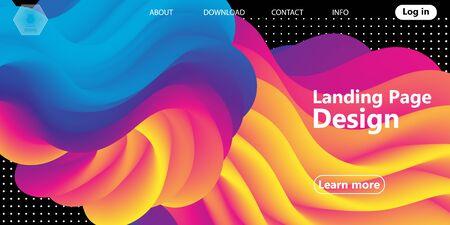 Fluid Colors. Liquid Shape. Ink Splash. Colorful Cloud. Flow Wave. Modern Poster. Color Background. Vector. Çizim