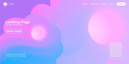 3d Pink Background. Landing Page. Fluid Shape. Abstract Flow. Trendy Poster. Colorful Futuristic Gradient. Geometric Background. 3d Fluid Banner. Vectores