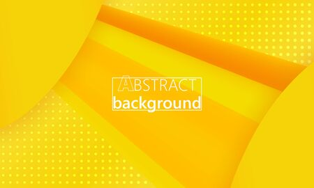Yellow Summer. 3d Fluid Poster. Yellow Minimal. Abstract Flow. Vibrant Color. 3d Wave. Fluid Colors. Liquid Shape. Flow Wave. Yellow Background. Vector.