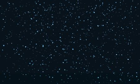 Star Sky. Space Stars Background. Glitter Particles. Vector Illustration. Night Sky With Blue Stars. Space Galaxy.