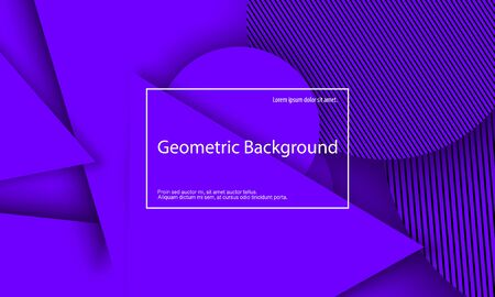 Purple Background. Abstract Cover Design. Geometric Background. Creative Purple Wallpaper. Geometric Shapes. Trendy Gradient Poster. Vector Illustration.