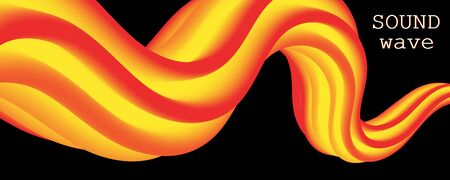 Red Design. 3d Poster. Abstract Flow. Red, Orange, Yellow Colors. Bright Gradient. Fluid Background. Liquid Yellow Color. 3d Wave. Fluid Design. Flow Wave.