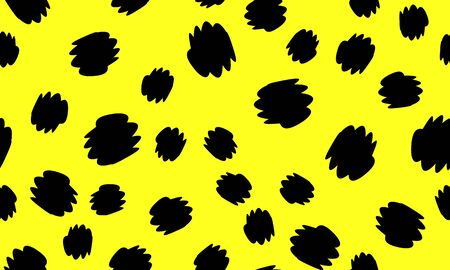 Leopard Print Design. Yellow Color. Animal Pattern. Leopard Print Seamless. Panther Skin. Retro Seamless Pattern. Spotted Fur Texture. Animal Print Leopard. Vector Illustration.