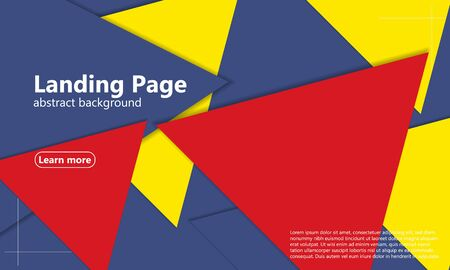 Minimal layout. Modern material design. 3d geometric background. Cover layout magazines template. Abstract paper cut background. Vector. Vectores