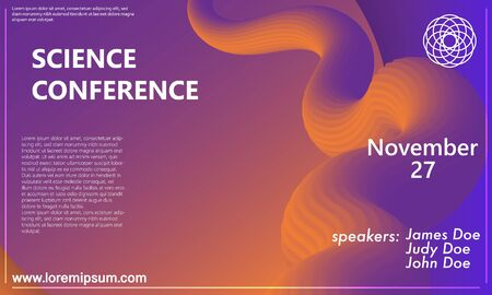 Business Conference. Invitation Design Template. Fluid 3d Geometric Shapes. Flyer Layout. Minimal Abstract Cover Design. Geometric Background. Colorful Wallpaper. Conference Poster. Vector Illustration. Vectores