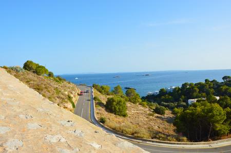 isles: Eivissa city Ibiza way travel Island, Spain Stock Photo