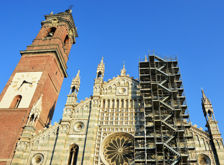 monza: Monza Cathedral (Cathedral) in Lombardy in the winter 2017, Italy