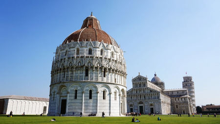 Pisa - Baptistery, Cathedral, Leaning Tower, Italy, UNESCO