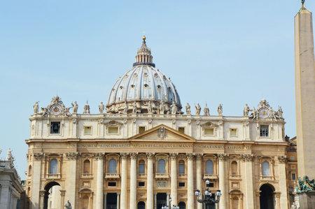 Basilica San Pietro in Vatican city. Rome, Italy Editorial