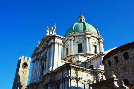 Duomo Cathedral of Piazza Paolo VI in Brescia city, Lombardy Italy