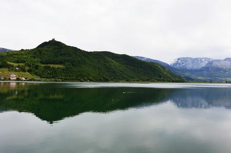 View of Lake Caldaro in Bolzano  Bozen Sudtirol, Italy