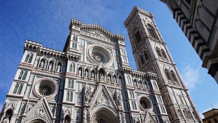 Florence, Italy: the Basilica di Santa Maria del Fiore with Giotto campanile tower bell and Brunelleschi dome Stock Photo