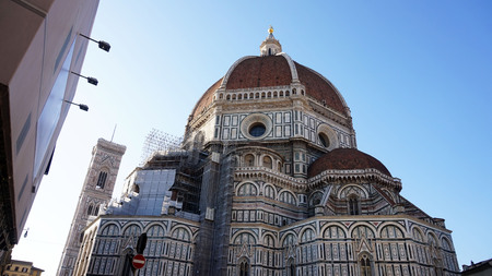 The Basilica di Santa Maria del Fiore (Basilica of Saint Mary of the Flower) with Brunelleschi dome, Florence, Italy