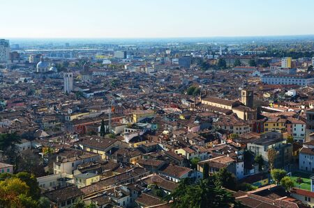 Beautiful Panorama of Brescia City, Lombardy Italy