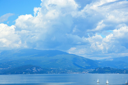 Amazing panorama on Lake Garda, Desenzano del Garda, Italy
