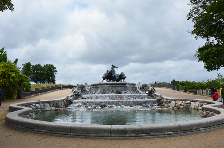 COPENHAGEN, DENMARK - MAY 31, 2017: The Gefion Fountain in Copenhagen, Denmark. It was designed by Danish artist Anders Bundgaard 1908. Editorial