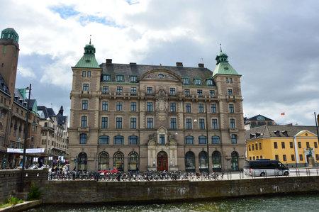 MALMO, SWEDEN - MAY 31, 2017: palace of Försäkrings AB Skånes hus in the street Norra Vallgatan 64, Malmö, Sweden Editorial