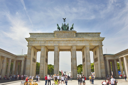 Brandenburg Gate (Brandenburger Tor) It is an 18th-century neoclassical triumphal arch in Berlin, one of the best-known landmarks of Germany