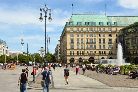 Tourists walking in Pariser Platz Berlin, Germany