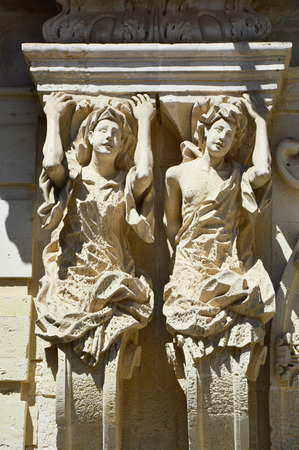 Caryatids of Marrese Palace in Lecce, Apulia, Italy