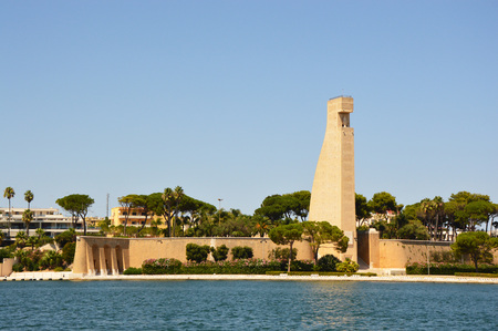 Monument to the Sailor of Italy in Brindisi city, Apulia, southern Italy
