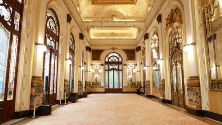 SAO PAULO, BRAZIL - MAY 15, 2019: inside of Municipal Theatre of São Paulo, Brazil Editorial