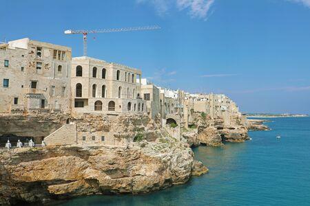Polignano a mare town on Mediterranean sea, Italy 免版税图像