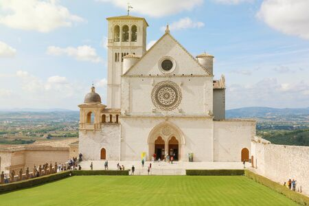 Famous Basilica of St. Francis of Assisi, Umbria, Italy.