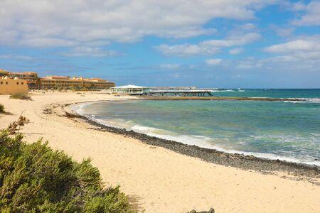 Beautiful view of Corralejo beach, Fuerteventura, Canary Islands Reklamní fotografie