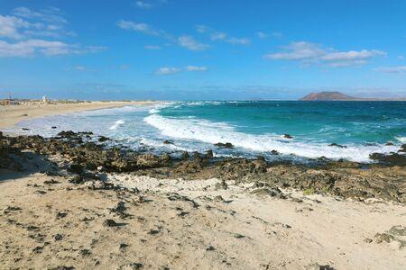 Playa Bajo Negro beach in Corralejo, Fuerteventura, Spain