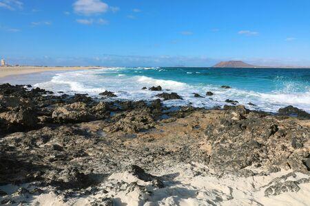 Playa Bajo Negro beach in Corralejo, Fuerteventura, Spain Reklamní fotografie